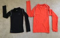 Lot Of 2 Nike Fit Dry Pro  Youth Boy's   T-Shirt Long Sleeve Top Size: Small