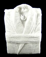 White Terry Towelling Bath Robe Dressing Gown 100% Cotton Large Size