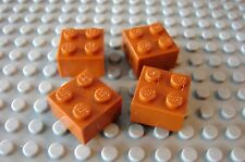 LEGO Dark Orange 2 x 2 Brick, Lot of Four 4767 4504 7194