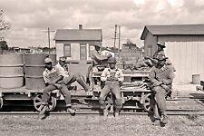 """1938 Photo, Railroad Workers, Train, 16""""x11"""" print, vintage, Louisiana, Labor"""