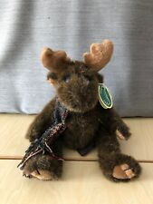 """Waldo"" The Bearington Collection plush moose #1374 retired collectible w/ tag"