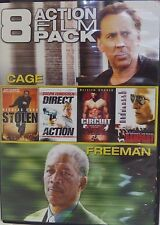 """8 ACTION FILM PACK"" CAGE/FREEMAN/STALLONE/CUSACK (DVD/2013) BRAND NEW SEALED!"