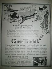 PUBLICITE DE PRESSE KODAK CINE-KODAK CAMERA SOUVENIRS DE VACANCES FRENCH AD 19