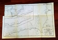 1949 Map of South Shore Rhode Island High Water Shoreline Changes Stonington