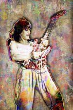 Van Halen 20x30inch Poster Eddie Van Halen Print Free Guitar Poster Shipping Us