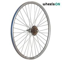 700c wheelsON Rear Wheel Hybrid/MTB + 6/7 Speed Shimano Freewheel Silver 36H