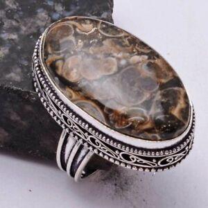 Turtella Jasper Ethnic Handmade Antique Design Ring Jewelry US Size-10 AR 39334