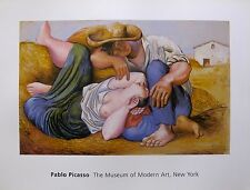 PABLO PICASSO Plate Signed Art Lithograph SLEEPING PEASANTS