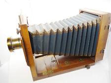 CONTINENTAL TAILBOARD FOLDING VIEW WOOD CAMERA 5X7 PERKEN LENS BLUE bellows 4083
