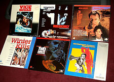 Lot of 6 ACTION LaserDiscs -VICE SQUAD, MAGNUM FORCE,  RICOCHET, WINTER KILLS +2