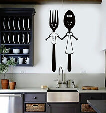 Vinyl Wall Decal Spoon and Fork Kitchen Restaurant Dining Room Stickers (ig4942)