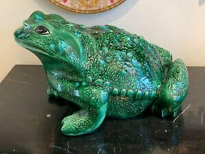 Vintage Arnel's Large Ceramic Frog Toad Figurine
