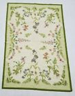 Vintage Handmade French Floral Design Multicolor Wool Aubusson Rug 180x121cm