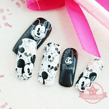 Mickey Mouse White one set of Full Nail strips wraps stickers Salon Manicure
