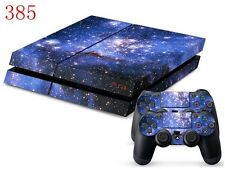 Sony PS4 Console and Controller Skins -- Blue Space Design Nebula (#385)