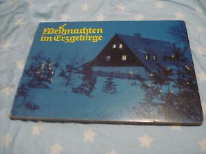 DDR Pappbuch Fotobilderbuch Weihnachten im Erzgebirge von Kristina Schmidt