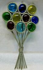 """Tiffany Stained Glass Collectors Society """"Balloons"""" Suncatcher w/ COA"""