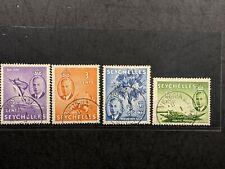 1952 Seychelles Sc 157-171 used complete set