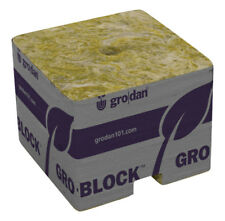 "Grodan 1.5"" Mini-Blocks Rockwool A OK Plant Starters 45 blocks (3-Pack)"