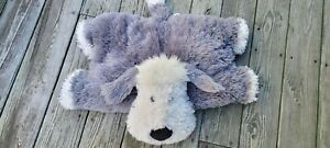 "Jellycat Truffles Chaucer Large  28"" x 20"" Shaggy Sheep Dog Floppy Pillow Plush"