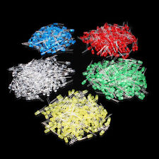 500pcs 5mm Led Diodes Water Clear Red Green Blue Yellow White Mix Kits 5 Colors