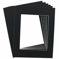 "15-Pack Black 11 x 14 Inch Picture Matted Frame Boards for 8"" x 10"" Photos"