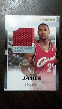 2003-04 SP Authentic Auth. Fabrics LeBron James Rookie Jersey Card Ser#/150 READ