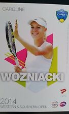 CAROLINE WOZNIACKI 5X7 2014 WESTERN & SOUTHERN TENNIS PLAYER COLLECTOR CARD ATP
