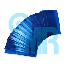 200pcs 18650 PVC Heat Shrink Wraps (Pre-cut) - Translucent Blue