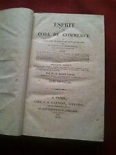 RARE 1829 ESPRIT DU CODE DE COMMERCE par M. LE BARON LOCRÉ-TOME TROISIÈME