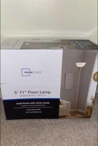 Mainstays HW-F0377SLV 71 inch Floor Lamp - Silver