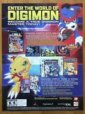 Digimon World Data Squad / Dusk / Dawn 2007 Print Ad/Poster Art Official PS2 DS
