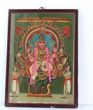 Vintage Ravi Varma Press Publication Litho Wall Print God Vishnu with Frame A-25