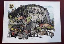 Karte Oybin 1956 DDR Postkutschenfahrt 700 Jahrfeier Jahre (24