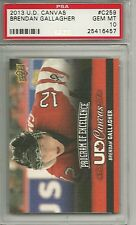 2013-14 Upper Deck Canvas Brendan Gallagher POE #C259 Team Canada Rookie PSA 10