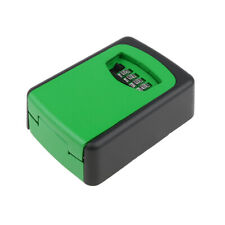 Key Storage Lock Box 4-Digit Combination Wall Mounted Resettable Code Green
