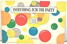 Everything for the Party by Peter Mabie 1931 - 12 Invitations, Cups, Cards +