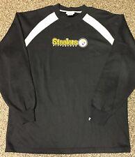 Good! Pittsburgh Steelers LS Shirt Black Size L Large STITCHED LOGO Jersey EUC