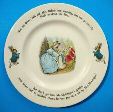 Peter Rabbit Wedgwood Dinner Plate Beatrix Potter Etruria Barlaston England