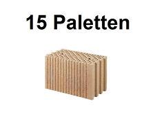 15 Pal. Planziegel POROTON-T (24 cm) 12/0,9 Ziegelstein Planstein Mauerwerk