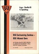 DDR-Liga 87/88 ZEPA subcitrato gera-BSG Sajonia anillo Zwickau, 23.08.1987