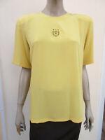 Basler - Womens Yellow Silky Feel Short Sleeved Shift Top - size 14