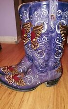 old gringo grace purple cowgirl boots 9 M