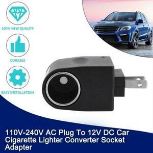 110V - 240V AC Plug To12V DC Car Cigarette Lighter Socket Converter US F0G8