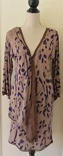 MISSONI Made in Italy Draped Logo Abstract Printed Sheath Dress Size IT 40
