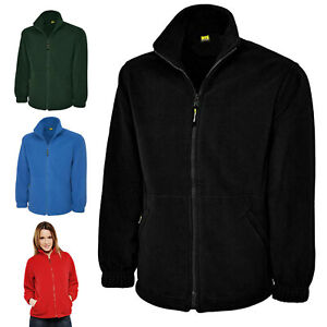 Ladies Full Zip Classic Fleece Jacket Coat Size 8 to 30 - SPORTS CASUAL LEISURE