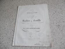 1850.Bagatelle pour piano sur Barbier Séville .Partition.Lecarpentier