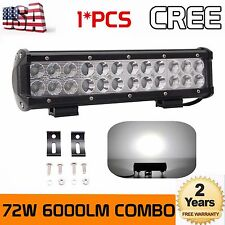 12inch 72W CREE Led Work Light Bar Combo Beam Boat Driving Offroad UTE 4WD Truck