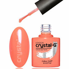 NAIL GEL POLISH by CRYSTAL-G UV LED SOAK OFF GEL COLOUR ** S31 CORAL CRAZZZY **