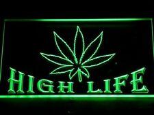 Cannabis Marijuana High Life Led Neon Light Up Sign Bar Home Sport Gift Decor